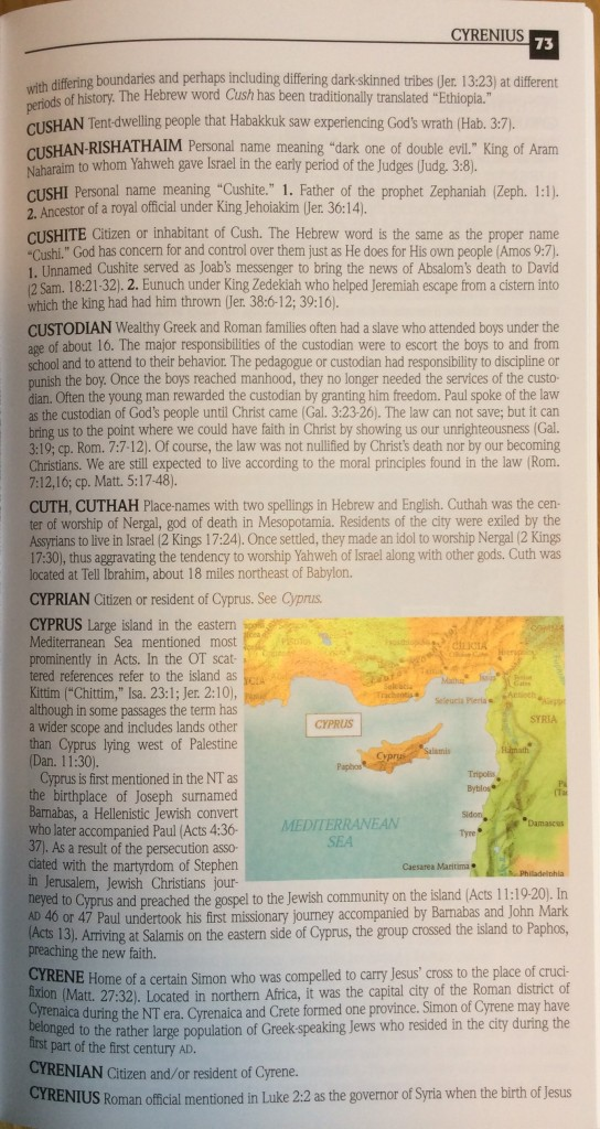 Inside the Bible Dictionary